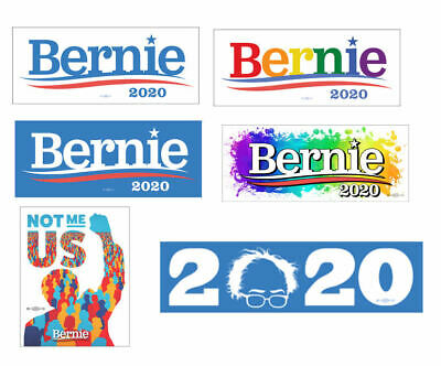 Bernie Sanders 2020 For President Set Collection of 6 Bumper Stickers