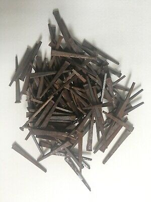 Lot of Hand Forged Iron Square Head Nails 1.6 lbs Vintage Hardware