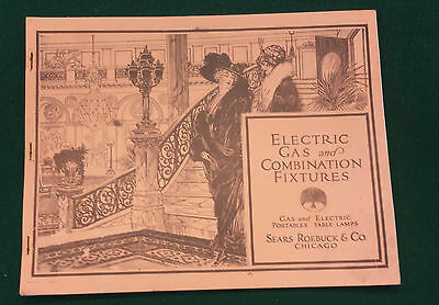 Sears, Roebuck  and Co. Vintage Electric Gas & Combination Fixtures Catalogue HJ