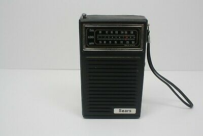 Sears AM/FM Solid State Handheld Radio Black.