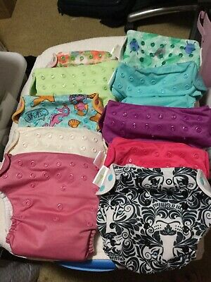 BumGenius Cloth Diaper Lot-10 BumGenius 4 Baby goal / Inserts 10Snaps 19 Nappies