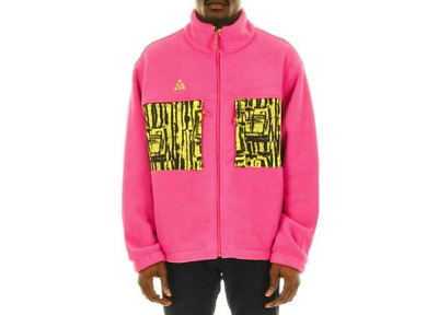 $150 Nike 2019 ACG Jacket Sherpa Animal Yellow Print Pink BQ3446-666 MicroFleece