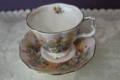 Royal Albert Shakespeare's Flowers 'Russet Mantle' Tea Cup And Saucer