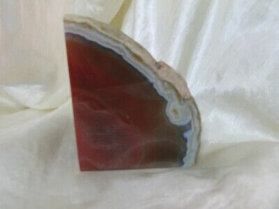 Large Polished Agate Book End Or Paper Weight