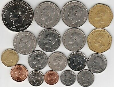 18 different world coins from SAMOA