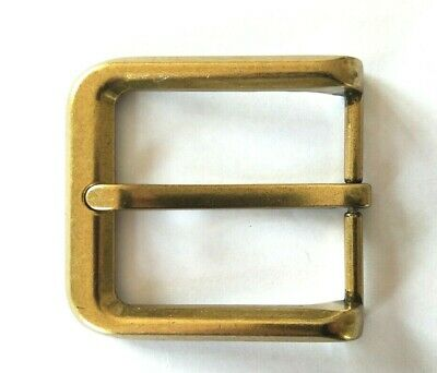 """Belt Buckle - Brass Colour Look Pin Style Buckle To Suit 1.5"""" Snap On Belt"""