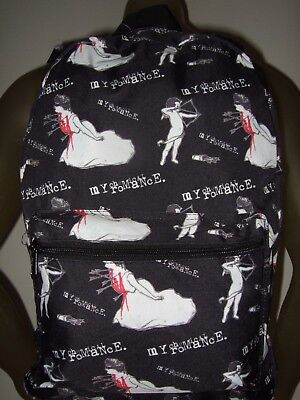 Nwt My Chemical Romance Three Cheers Cupid Bloody Arrows MCR Band Backpack Bag