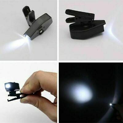 Flexible Book Reading Lights Mini LED Eyeglasses Clip on Repair Work Lamp D E5A5
