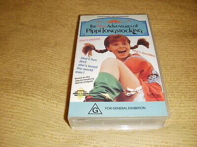 The Adventures Of Pippi Longstocking 1988 VHS TAPE family classic kids VIDEO PAL