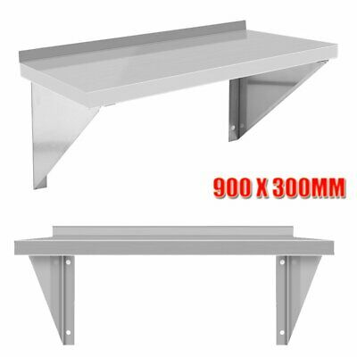 Commercial Stainless Steel Wall Shelf Mounted Kitchen Shelves w/ Brackets IU