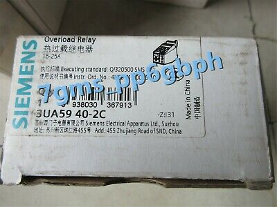 1pc NEW IN BOX Siemens Relay 3UA59 40-2C 3UA5940-2C