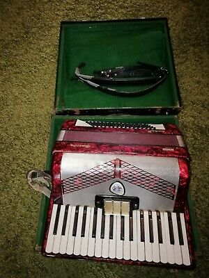 German Galotta Ideal II Ziehharmonika Bass Piano Accordion