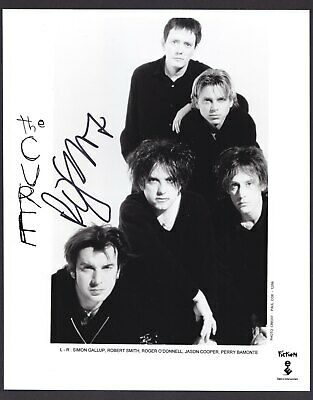 The Cure Robert Smith Very Rare Amazing In Person Signed W/Proof Coa