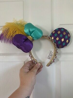 Disney Parks Minnie Mouse Ears Bow Mardi Gras New Orleans Headband
