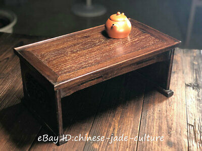 Huanghuali Wood Carving Dragon Bead Classical Furniture Dining Center Tea Table