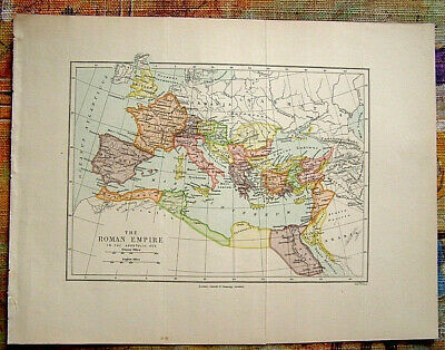 c1900 Original Antique Map of the Roman Empire in the Apostolic Age. Cassell