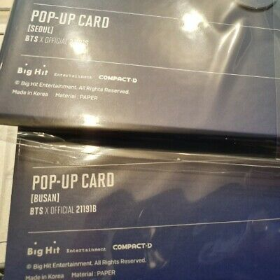 BTS 5th Muster Magic Shop Official MD Photo Pop Up Card Seoul + Busan Ver.