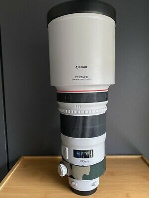 Canon EF 300mm F/2.8 II EF L USM Lens- Boxed with Lens Coat And IShoot Foot