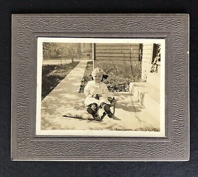 Vintage Cabinet Card Sepia Photograph Small Child