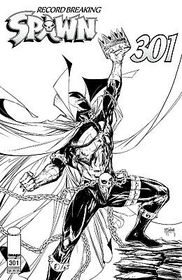 SPAWN 301 I TODD McFARLANE B&W COVER & INTERIOR VARIANT NM