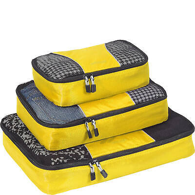 EBags Classic Packing Cubes - 3pc Set Canary Yellow FREE SHIPPING