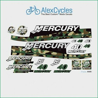 MERCURY Marine 3.5 HP Outboard Motor RED Laminated Decals Stickers Kit Set Boat