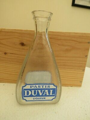 Vintage & Retro French Glass Pastis Duval Water Carafe Water Jug Bistro Cafe