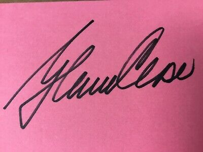 Glenn Close Beautifully Autographed Pink Index Card Pc2414