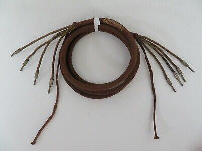 Antique telephone cloth covered subset cord brown 4 conductor pin   6ft  Runzel
