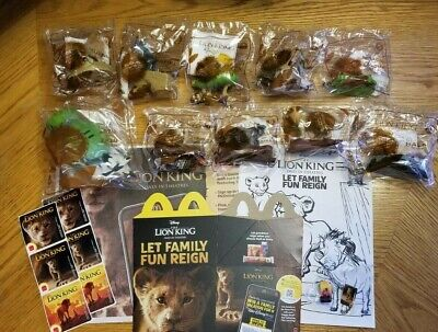 THE LION KING McDonalds Happy Meal Complete Set Toys Pins Stickers Box SUPER LOT