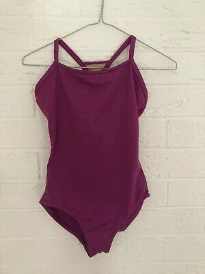 Purple patterned cross back Bloch mirella leotard size adults Medium