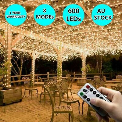 500LED 100M Warm White Fairy Christmas String Lights Wedding Party Garden SAA