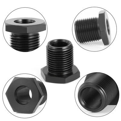 1/2-28 to 3/4-16 Threaded Adapter Automotive Oil Filter Steel Black Knurled Tool