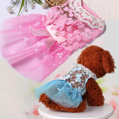 Pet Summer Cute Princess Dog Small Clothing Puppy Skirts Tulle Cat Dresses XS-XL