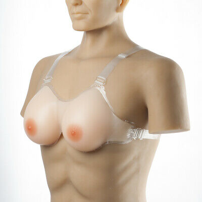 Silicone Breast Forms  Shoulder Strap Cosplay Drag-Queen Invisible Bra A-FF Cup