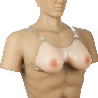 Strap-on Silicone Breast Forms Cosplay Drag-Queen Invisible Bra A-FF Cup