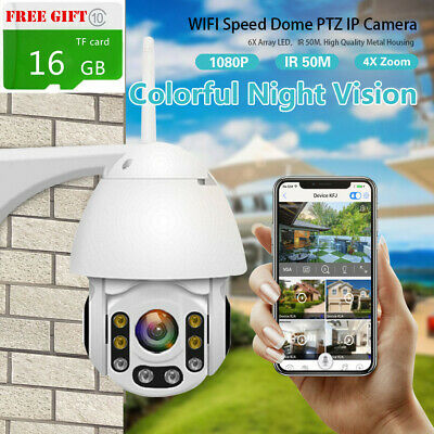 Wireless HD 1080P WiFi 5X ZOOM CCTV Outdoor IP Camera Home Security IR Webcam XX