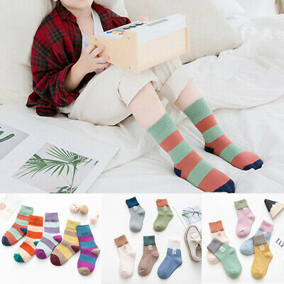 Fashion Breathable Boy Girl Crew Ankle Socks Lot Casual 5 Pairs Baby Toddler Kid