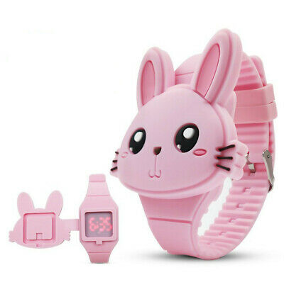 Kids LED Electronic Digital Silicone Wrist Watch Girl Boy Watches Blue Cute Gift
