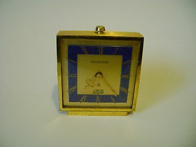 Vintage Jaeger Lecoultre Miniature Desk / Alarm Clock In Good Woring Order