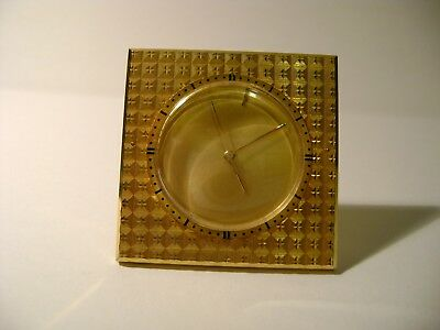 Rare Miniature Jaeger-Lecoultre Memovox Travel / Alarm Clock In Immaculate Cond