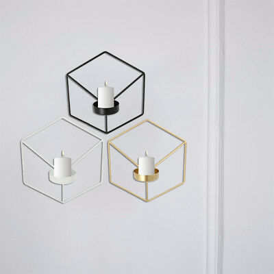Nordic Style 3D Geometric Candlestick Wall Art Candle Holder Sconce Matching New