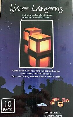 Brand New Box Of 10 Light A Lantern Floating Water Lanterns For Weddings / Party