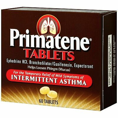 Primatene 60 Count Box Free Boxed Shipping Exp 1/2021 Genuine