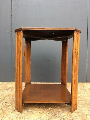 ART DECO SOLID OAK OCCASIONAL/SIDE TABLE/LAMP TABLE 1930s