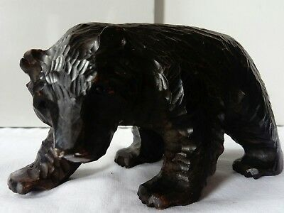 Japanese Ainu Bear, Antique Antique Hand Carved.