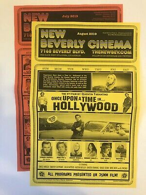 Once Upon a Time in Hollywood TARANTINO New Beverly Cinema Calendar JULY AUGUST