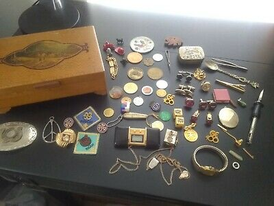 estate find junk drawer lot jewelry tokens collectibles