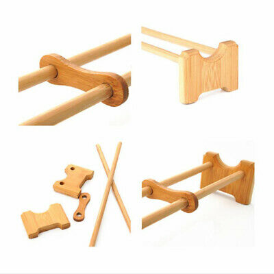 Bamboo Tea Tray Kung Fu Accessories Drain Rack Chinese Serving Set LD