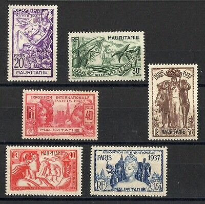 Mauritanie: Serie Complete De 6 Timbres Neuf* N°66/71 C: 11,00 €